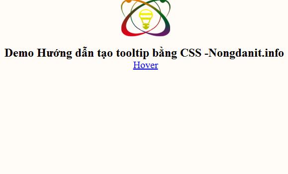 Hướng dẫn tạo Tooltip đơn giản bằng CSS